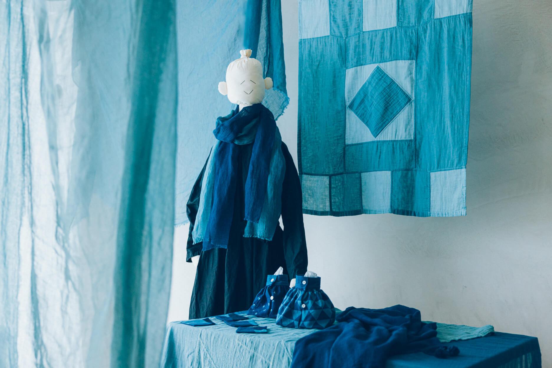 TANSU 藍染風布